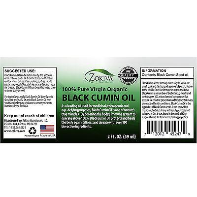 Black Cumin Seed Oil 100% Pure, Cold Pressed, Virgin Organic, 2 fl. oz. (59ml)