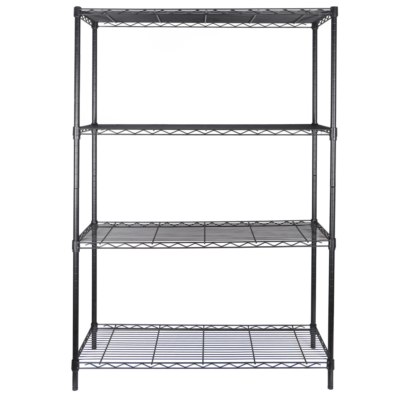 Black 4Tier Steel Organizer Wire Rack Heavy Duty Storage Shelving Unit Kitchen Home & Garden