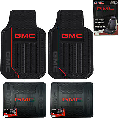 Back Seat Floor Mats - New GMC Elite Series Car Truck Front Back Floor Mats / Key Chain / Seat Covers