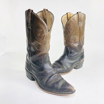 Acme Mens Size 10.5 D Brown Leather Cowboy Western Boots 0906 Pointed Toe