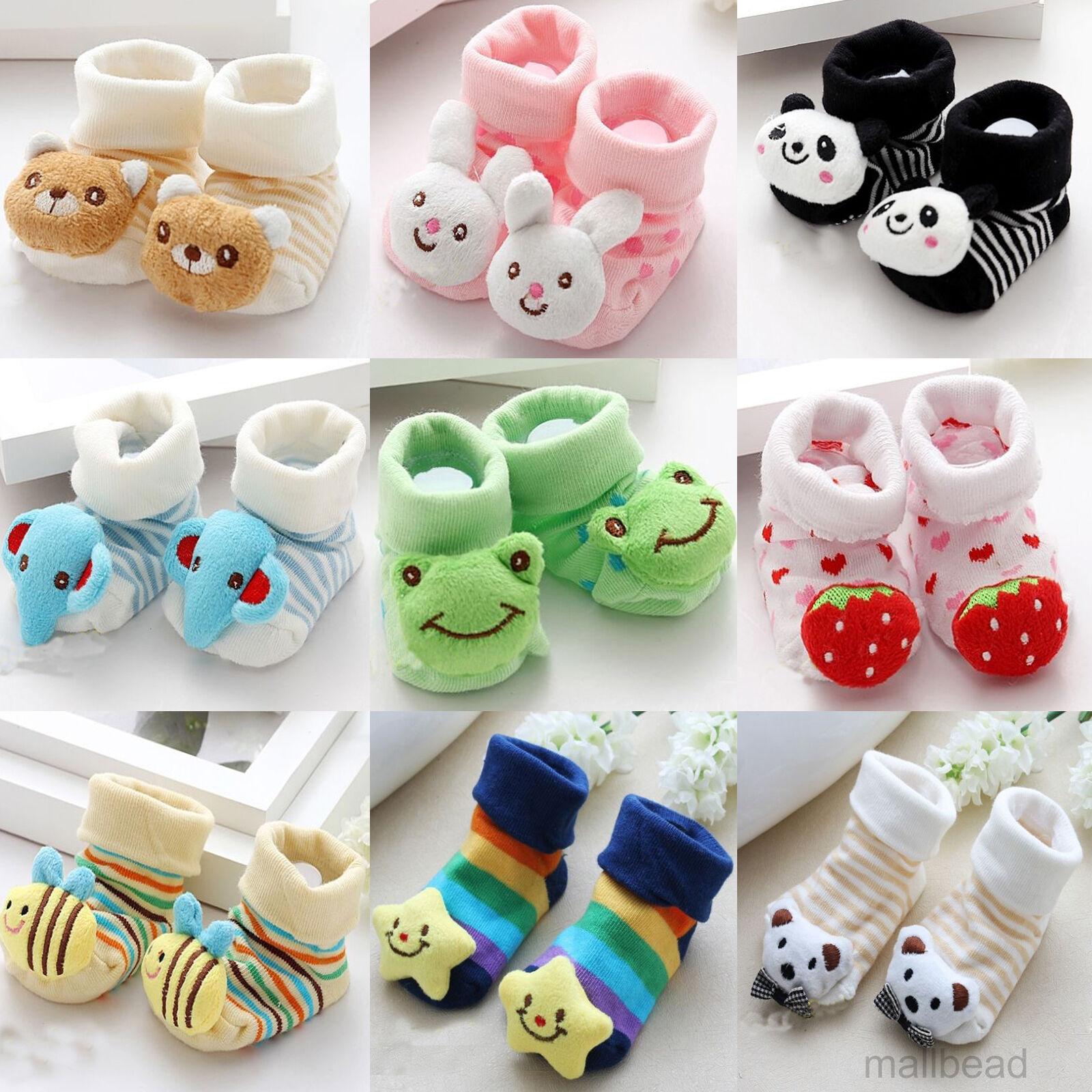 Cute Baby Girl Newborn Uni Anti slip Warm Socks Animal Shoes