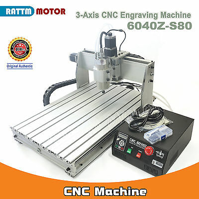 3 Axis Mach3 6040z-s80 1500w Cnc Router Engraving Milling Cutting Machine Kit