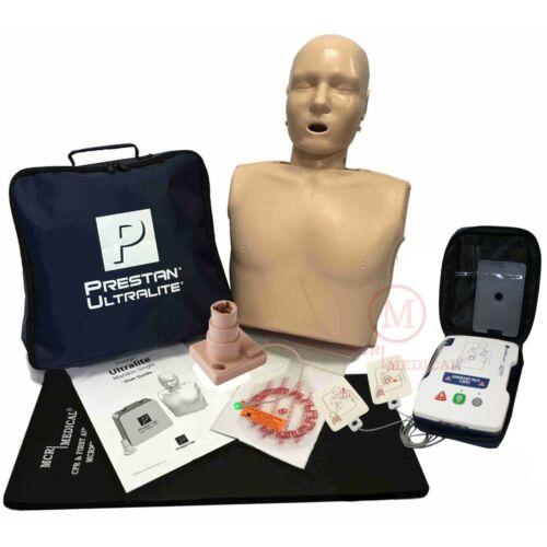 CPR Training Kit w/ Prestan Ultralite Manikin w/ feedback, and AED UltraTrainer