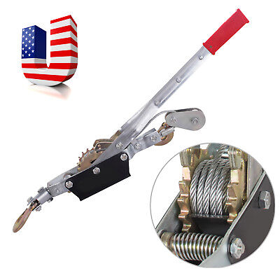 Us Ship Heavy Duty Come Along 4ton 8000lb Winch Hoist Hand Cable Puller Pulling