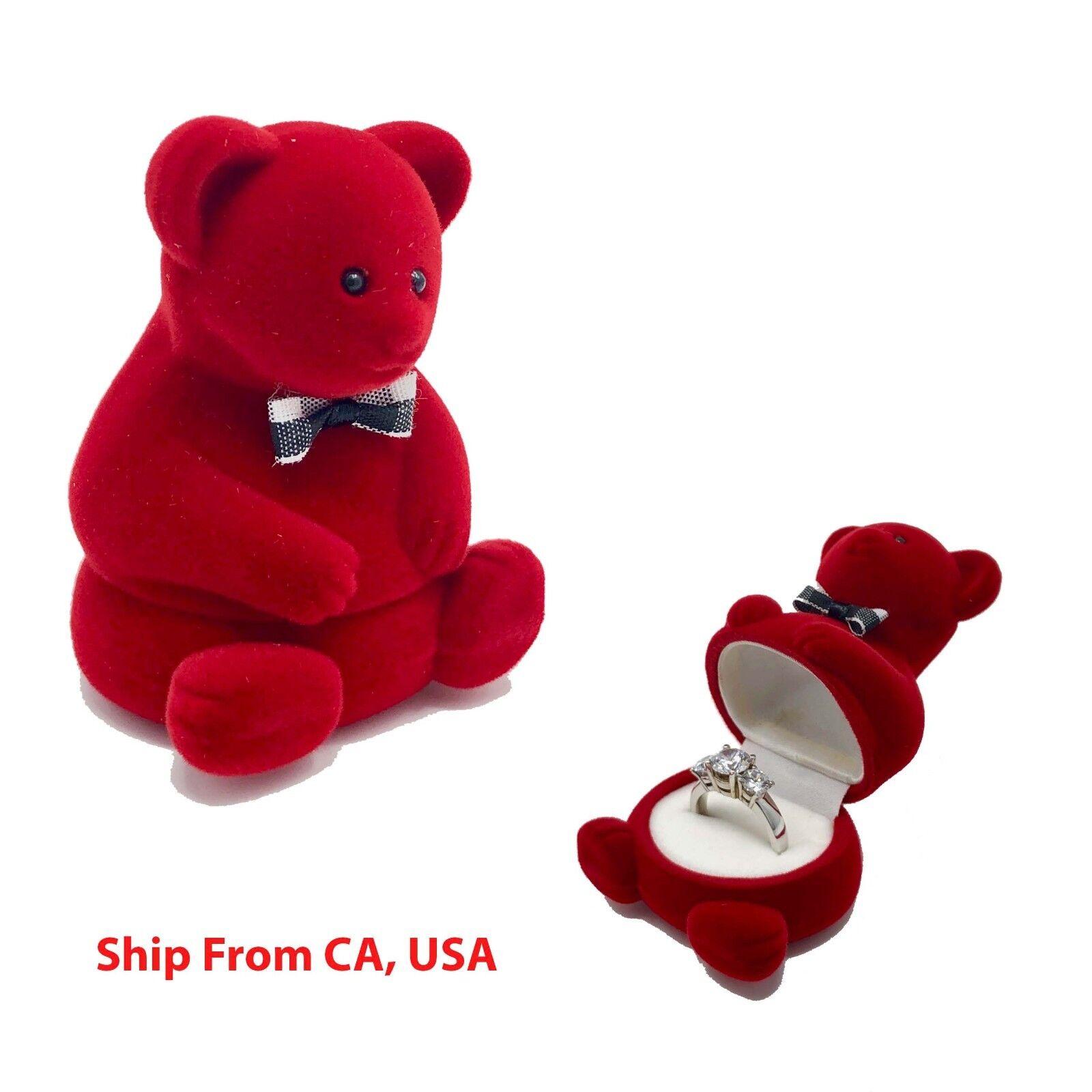 Ring Box | wedding proposal box | Teddy Bear Ring jewelry Bo