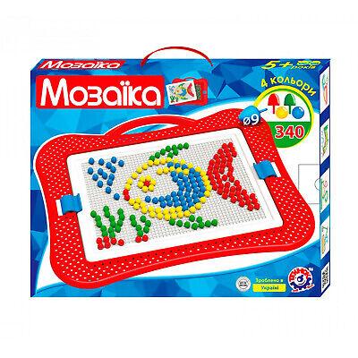 Mosaik-Spiel für Kinder 340tlg Steckspiel Steckmosaik Steckpins Steckkugeln  ()