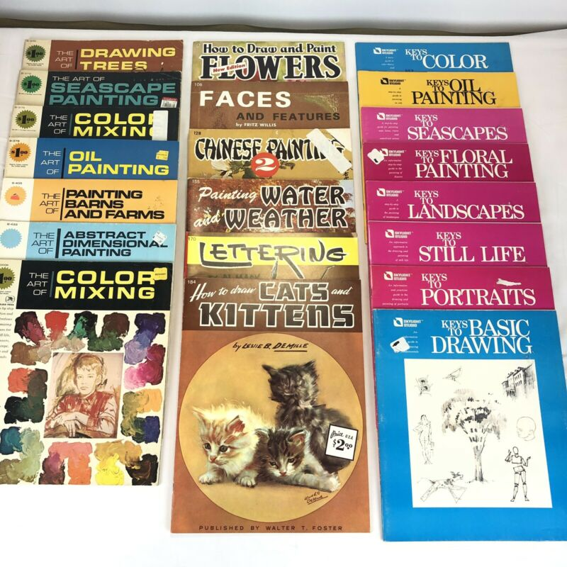 Vintage LOT of 20 The Art Of, Walter T. Foster, and Skylight Studio Art Booklets
