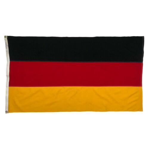 Vintage Cotton Sewn Flag Germany German Old Cloth Used 3x5 Worn Distressed