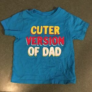 3T boys tshirt - Cuter Version of Dad