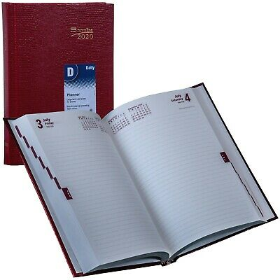 2020 Brownline Cb389.red Daily Planner Diary Hard Cover 8-14 X 5-34