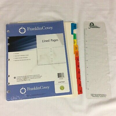 Refill Lined Paper Tabs Insert Pagefinder Kit Monarch Franklin Covey Planner Lot
