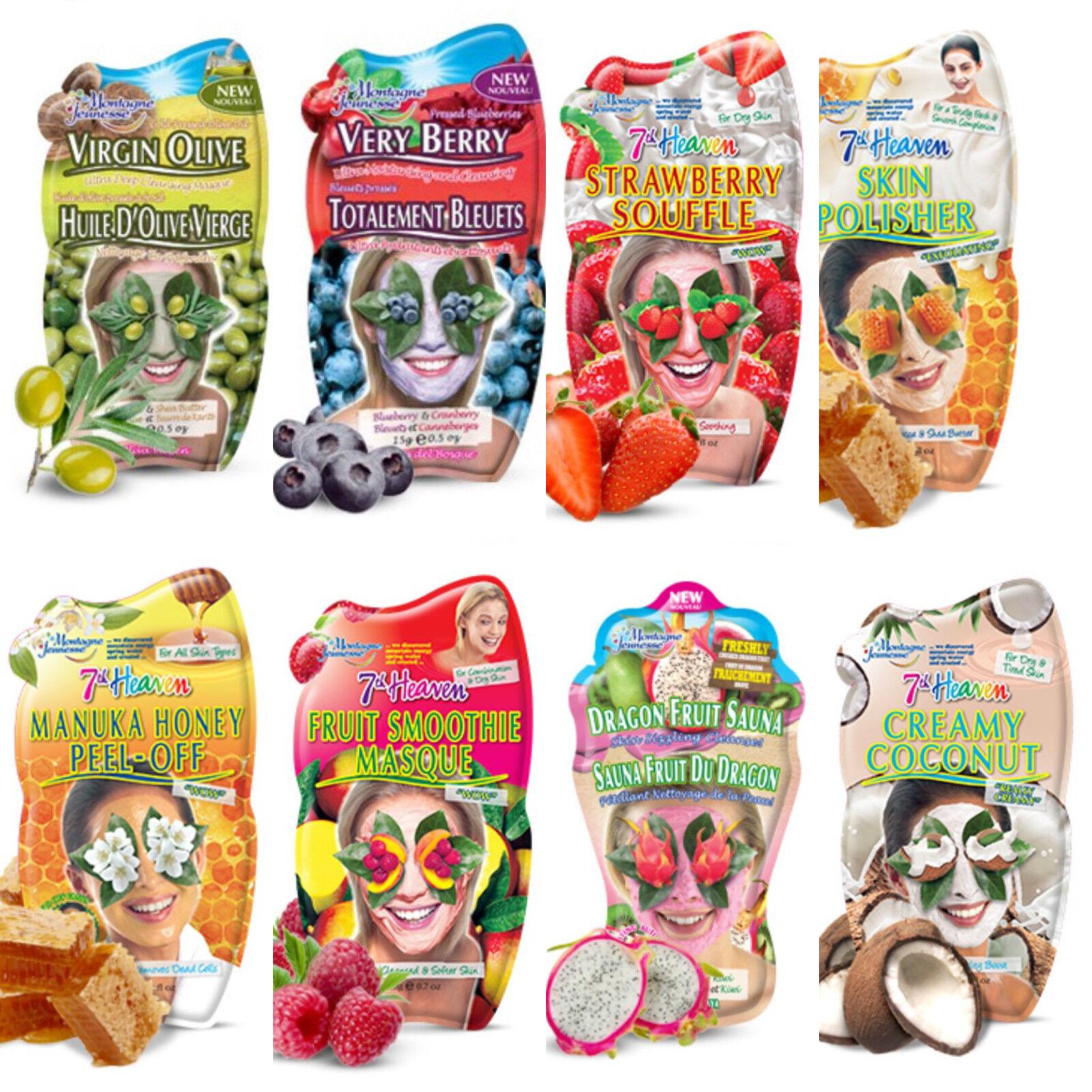 Montagne Jeunesse '7th Heaven' Face Masks - Mixed Varieties