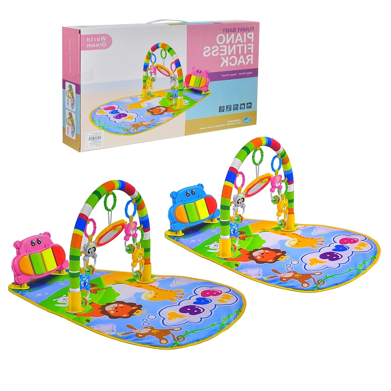 Baby Gym Play Mat Lay /& Play 3in1 Fitness Music And Lights Fun Piano Playmats UK