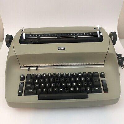 Vtg Carriage Green Ibm Selectric I Model 71 Electric Typewriter Powers On Repair