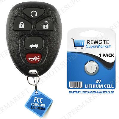 Monte Carlo Key (Replacement for 2006-2013 Chevy Impala 06-07 Monte Carlo Remote Car Key Fob 5b )