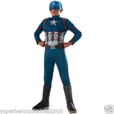 Captain America Bürgerkrieg Muskel Jungen Kostüm Marvel Comics Size 8-10 Neu