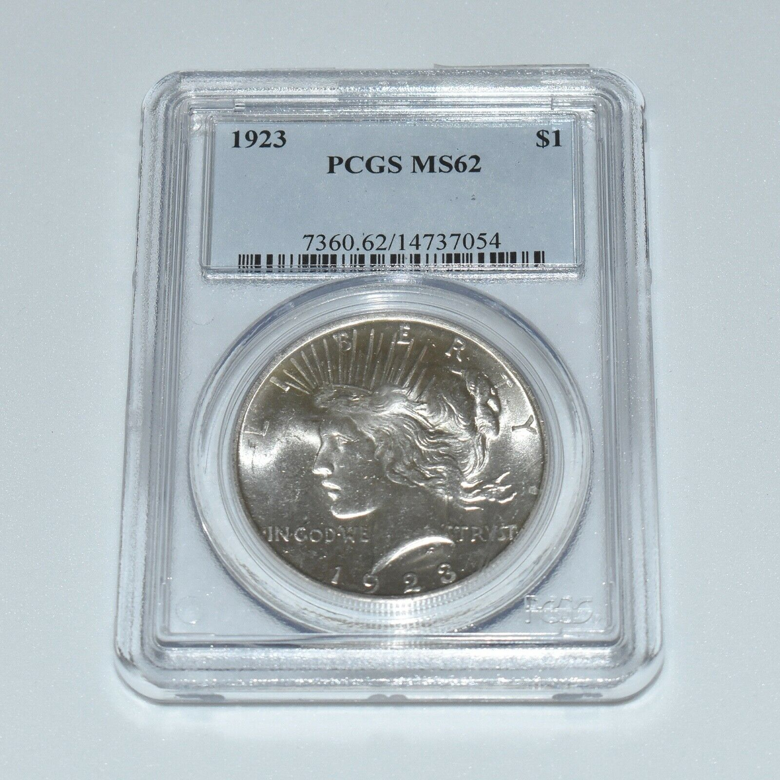 1923 PEACE SILVER ONE DOLLAR MS62 PCGS - $44.00