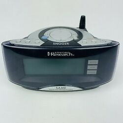 Emerson SmartSet Dual Alarm Clock AM/FM Hazard Weather Radio W/ Snooze CKW2000