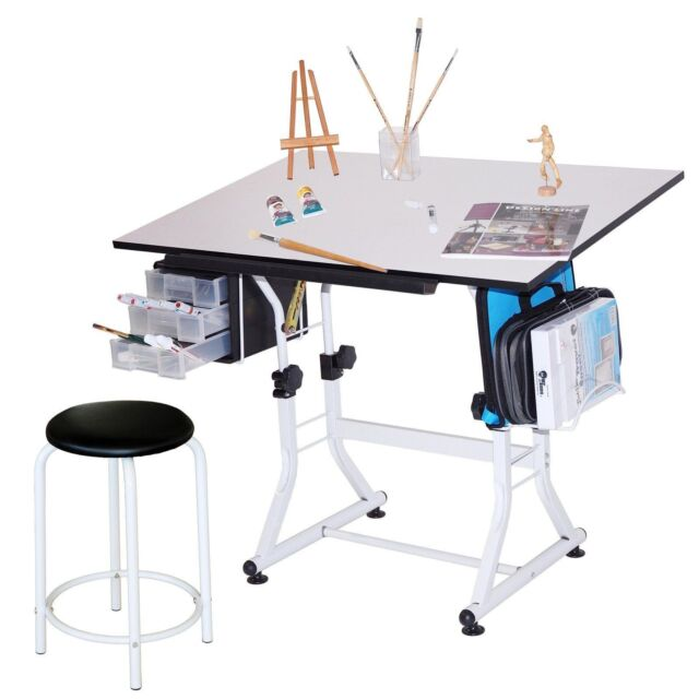 Drafting Drawing Art Hobby Craft Table Desk For Kids and Artists - Drafting Drawing Table Art Hobby Desk Craft For Kids And Artists