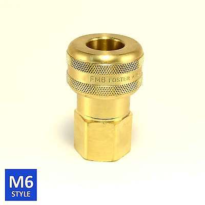 Foster 6 Series Brass Quick Coupler 34 Body 34 Npt Air Hose And Water Fittings
