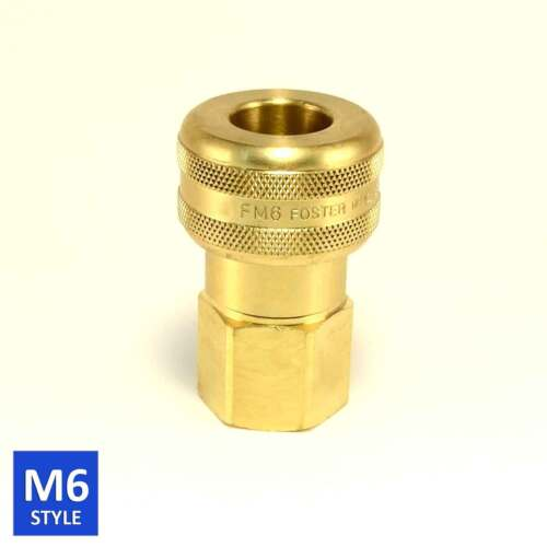 Foster 6 Series Brass Quick Coupler 3/4 Body 3/4 NPT Air Hose and Water Fittings