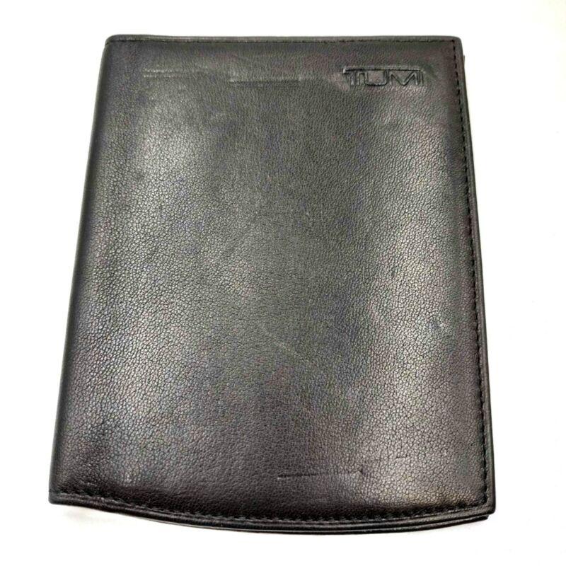 Vintage TUMI Black Leather Palm Pilot Reader Cover Case Stylus Pen Slots EUC