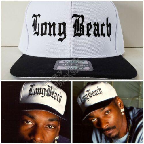 NEW Long Beach White with Black Brim Snapback Hat Cap LBC Snoop Doggy Dogg