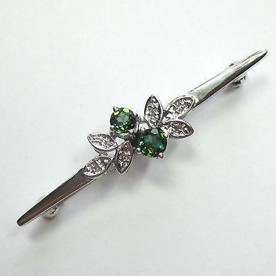 790 - Elegante Nadel aus 585 Weißgold - Turmaline und Diamanten ---  2003