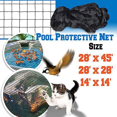 Pool Netting Pond Protective Floating Net 14x14' 28x28' 28x45' Tub Mesh Cover