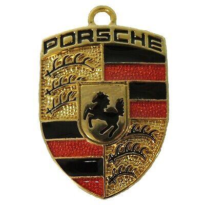 Key Chain Porsche Style Gold Color, 3 x 4 cm
