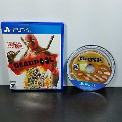 Deadpool (Sony PlayStation 4, 2015) PS4 Marvel Comics - Tested Working With Case