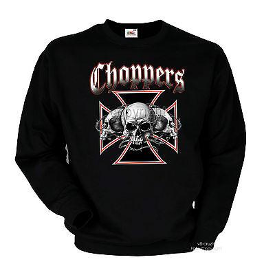 Biker Gothic Chopper Rocker Totenkopf Skull Punk Sweatshirt *4087 Punk Skull Sweatshirt