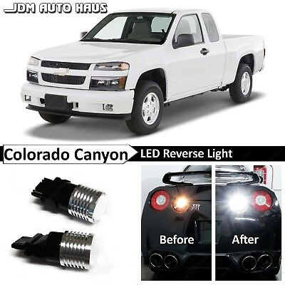 (White High Power Reverse Backup LED Lights Bulb Fits Chevy Colorado GMC Canyon)