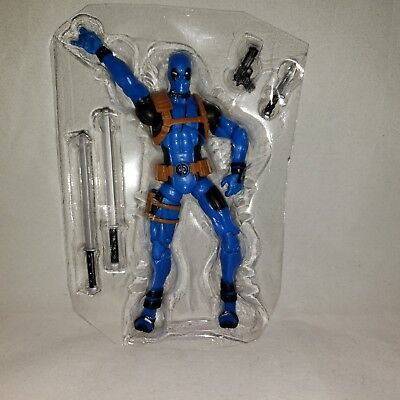 "Marvel Legends Deadpool Rainbow Squad 3.75"" Figure Loose Blue Hasbro"