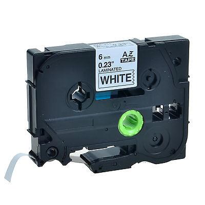 TZ TZe 211 Black on White Tape for Brother P-touch PT-D210 6mm Label Maker 1PK