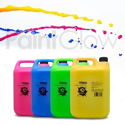 PaintGlow Neon UV Body Splash Paint 20L (4 Pack) UK Free UPS Next Day Delivery ()