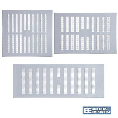 Air Louver Cover (Plastic Louvre Adjustable Air Vent Cover White with Fly Mesh Used For Ventilatio)