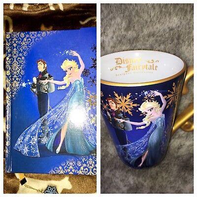 Disney Store Frozen Elsa Hans Fairytale Designer Collection Journal Mug Lot