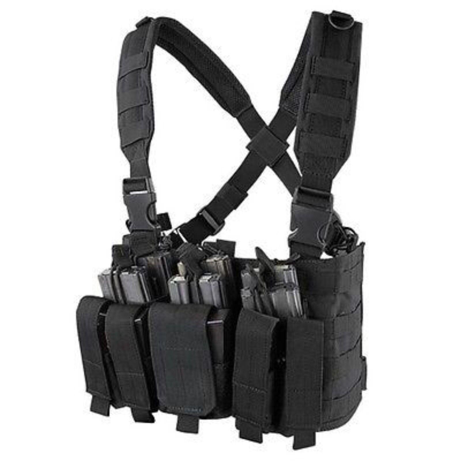 CONDOR Black MCR5 MOLLE 5.56 .223 Magazine Holster Rapid Assault Chest Rig  Vest c0fb1c68c