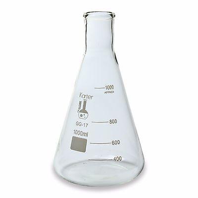 Karter Scientific 1000 Ml Erlenmeyer Flask Borosilicate Glass