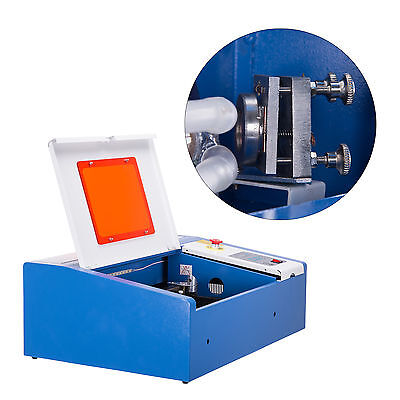 Water-break Protection 40w Co2 Laser Engraver Crafts Cutter W Panel Control