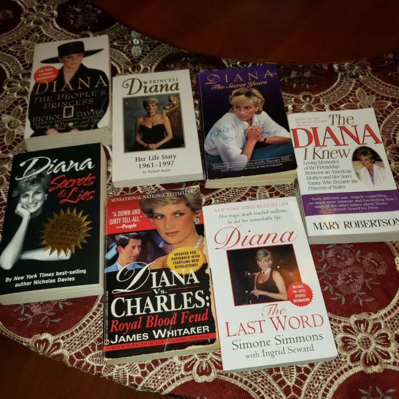Princess Diana paperback 7 book collection