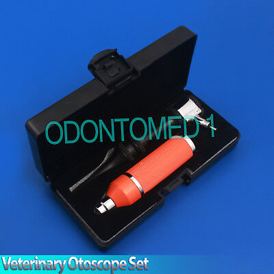 Veterinary Otoscope Set Animal Orange Color Diagnostic Instruments