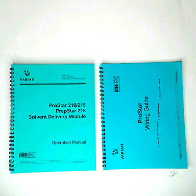 Varian Prostar 210215 Prepstar 218 Solvent Delivery Operations Manual Wiring