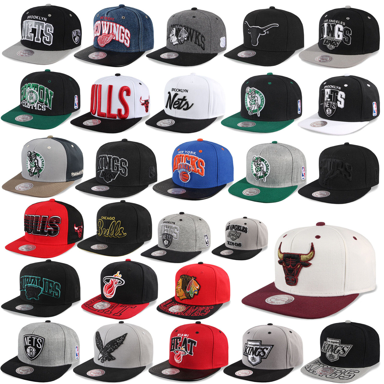 Mitchell /& Ness and snapback CAP CHICAGO BULLS nets Kings Magic Heat uvm-C