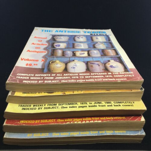 5 ANTIQUE TRADER WEEKLY ANNUAL ARTICLES BY BABKA PUBLISHING CO