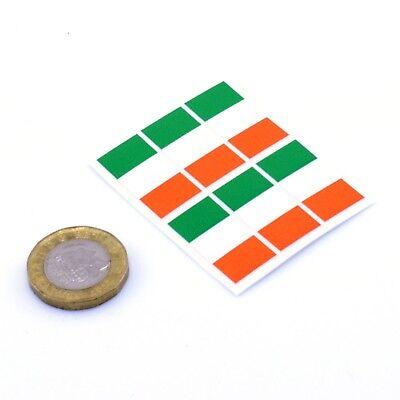 Ireland Flag Stickers x6 25mm Car Motorbike Helmet Vinyl Decals Irish Tricolore
