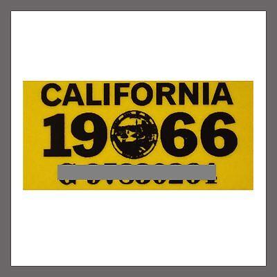1966 California Yom Dmv Car Truck Trailer License Plate Sticker   Tag Ca 1963 66