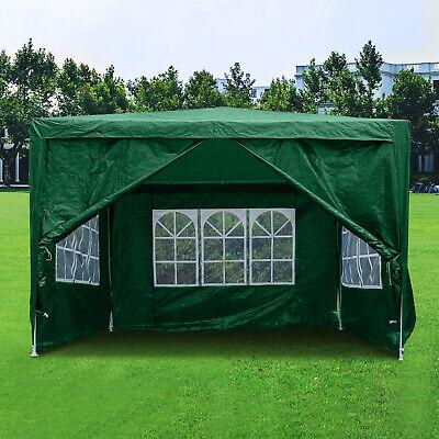 3Mx3M Gazebo Waterproof Windbars Outdoor Marquee Canopy Wedding Party Tent Green