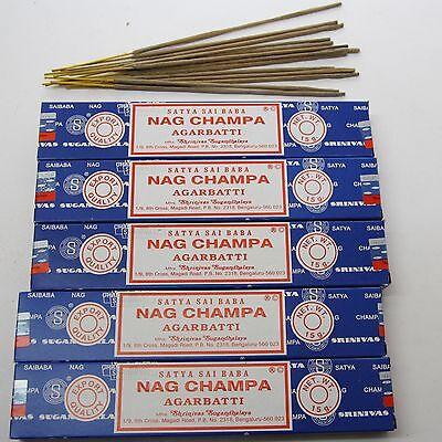 5 x NAG CHAMPA- BLAU Räucherstäbchen,Nagchampa Satya Sai Baba indien